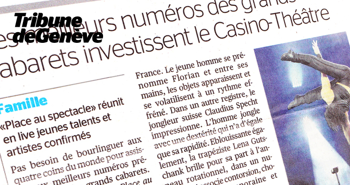 Press coverage Tribune De Genève 2011 02 25