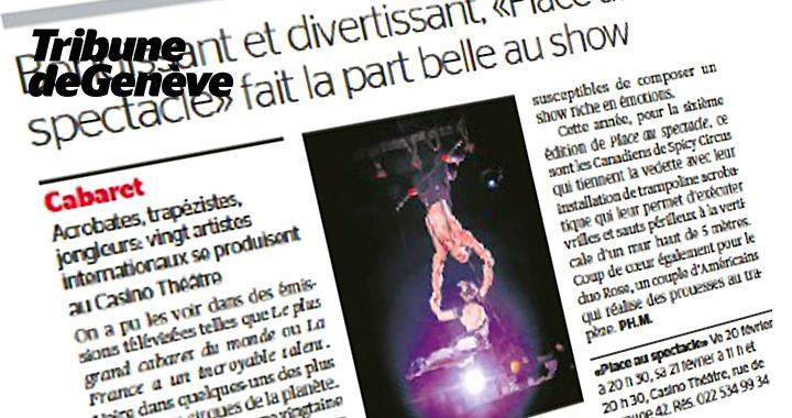 Couverture De Presse Tribune De Genève 2015 02